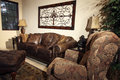 Mansion Home Family Room Royalty Free Stock Photo