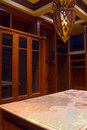 Mansion home walk-in closet and dressing room Royalty Free Stock Photo