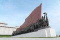 Mansu Hill Grand Monument, Pyongyang, North Korea Royalty Free Stock Photo
