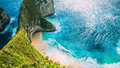 Manta Bay or Kelingking Beach on Nusa Penida Island, Bali, Indonesia Royalty Free Stock Photo