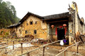 Mantang hakka enclosed house located in shaoguan city shixing county guangdong province china Stock Photos