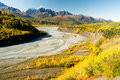 Mantanuska River Cugagch Mountain Range Alaska North America Royalty Free Stock Photo