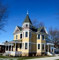 Manteno victorian this is a winter picture of a victoriqn house located in illinois the house built in is an example of italianate Royalty Free Stock Image