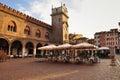 Mantova, Italy, Piazza Erbe. Italian restaurant Royalty Free Stock Photo