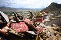 Mantra Om Mani Padme Hum, Monastery  tibet Royalty Free Stock Photo