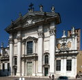 Mantua cathedral the of saint peter in lombardy northern italy goes back to the early christian era partially destroyed by fire in Stock Photos