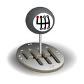 Manual gear shift Stock Photography