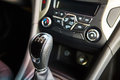 Manual gearbox in the car Royalty Free Stock Photo