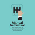 Manual transmission vector illustration Royalty Free Stock Images