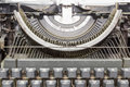 Manual typewriter close up view of an antique Stock Photography