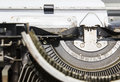 Manual typewriter close up view of an antique Royalty Free Stock Image