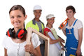 Manual workers from different trades Stock Photo