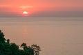 Manuel antonio bay tranquil sunset costa rica Stock Images