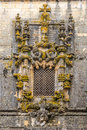 Manuelin style window in Convent of Christ in Tomar ,Portugal Royalty Free Stock Photo