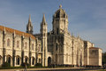 Manueline style facade monasteiro dos jeronimos lisbon portugal the Stock Photo