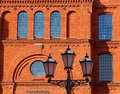 Manufactory made of bricks. Royalty Free Stock Photo