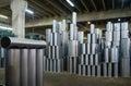 Manufactured silver metallic tubes