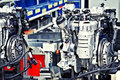 Manufacturing of car engine Stock Images