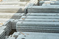 Manufacturing concrete slabs. reinforced concrete production