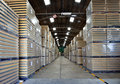 Manufacturing inventory warehouse after production Stock Photos