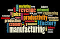 Manufacturing word cloud Stock Photo