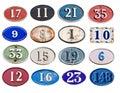 Many address plate Royalty Free Stock Photo