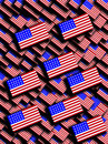 Many American Flags Stock Photography
