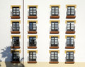Many balconies Royalty Free Stock Photo