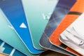 Many bank cards Royalty Free Stock Photo