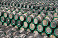 Many barrels Royalty Free Stock Photo