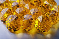 Many beautiful yellow gemstone close up Royalty Free Stock Photo