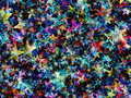 Many blur multicolored stars background Royalty Free Stock Photo