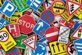 Many British traffic signs Royalty Free Stock Images