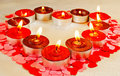 Many burning candles Stock Images