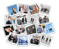 Many business photos, collage Royalty Free Stock Photography