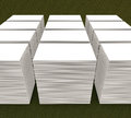 Many cards. template to presentation Royalty Free Stock Photo