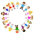 Many children got up in a circle Stock Image