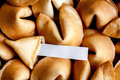 Many Chinese fortune cookie paper with prediction Royalty Free Stock Photo