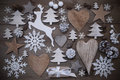 Many Christmas Decoration,Heart,Snowflakes,Star,Present,Reindeer Royalty Free Stock Photo