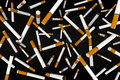 Many cigaretttes on the air d illustration Royalty Free Stock Images