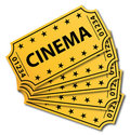 Many cinema tickets. Royalty Free Stock Image