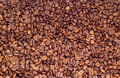 Many coffee beens texture Royalty Free Stock Images