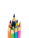 Many color pencils abstract background from Royalty Free Stock Images