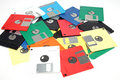 Many colored computer diskette Stock Image