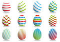 Many colored Easter Eggs Stock Image