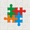 Many-colored puzzle pattern Royalty Free Stock Image