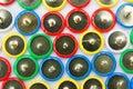 Many colored tacks close up of Royalty Free Stock Photo