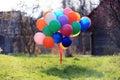 Many colorful balloons Royalty Free Stock Photo