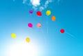 Many colorful baloons. Royalty Free Stock Photo