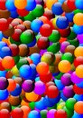 Many colorful beads as background Stock Images